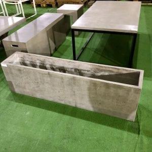 Betongpotte 140x27x40 Cm. (100049) Hagemøbler og utemøbler - Fine design
