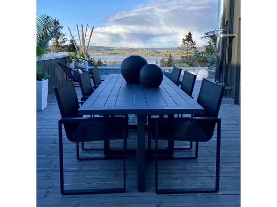Gardenart Spisestol I Sort Aluminium Og Texilene (100510sort) Hagemøbler og utemøbler - Fine design
