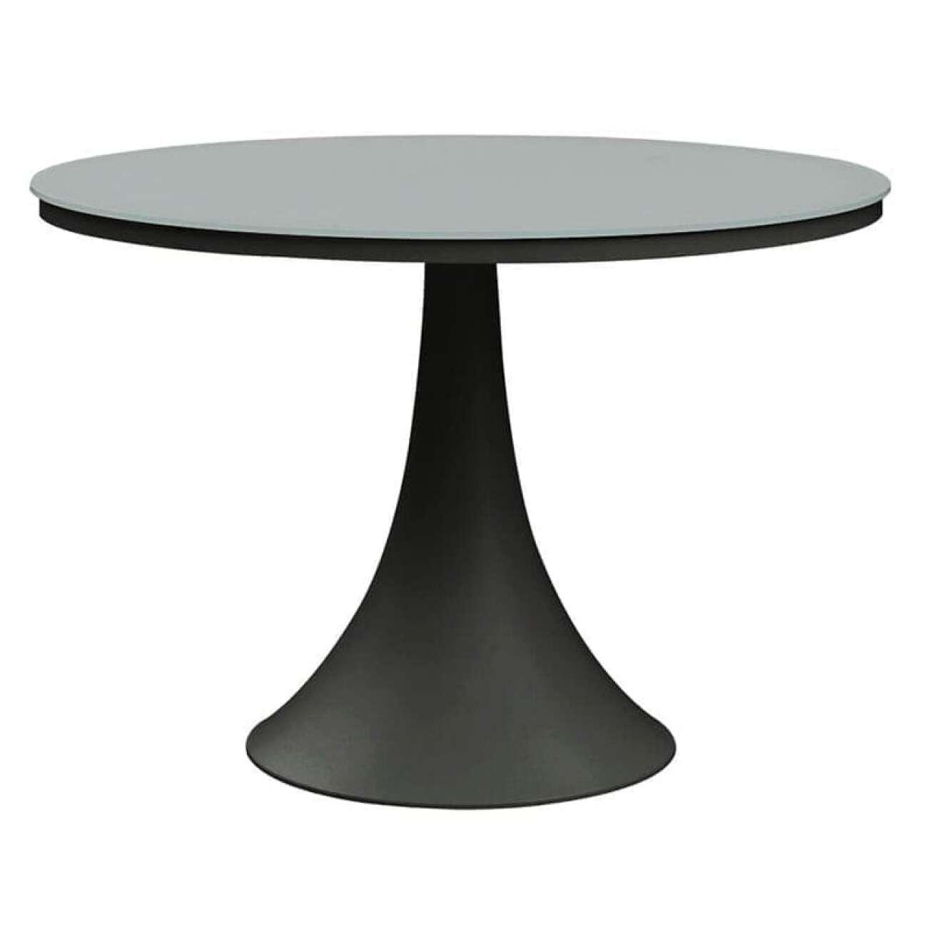 Gardenart Rundt Spisebord 110 Cm I Aluminium/glass So (100521sort) Hagemøbler og utemøbler - Fine design