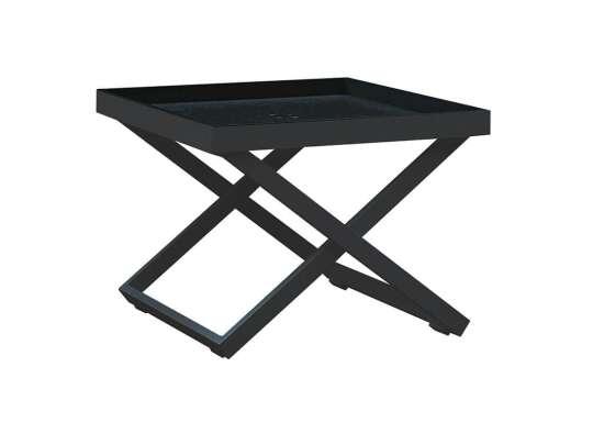 Gardenart Sidebord I Sort Aluminium (100524sort) Hagemøbler og utemøbler - Fine design