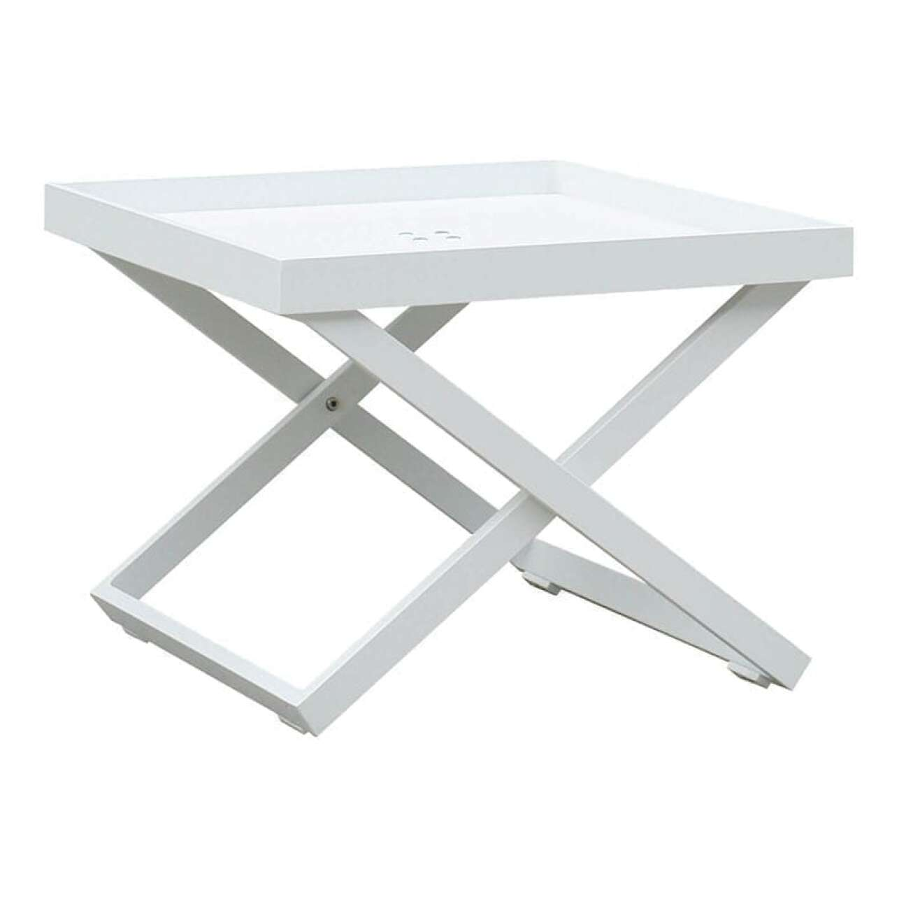Gardenart Sidebord I Hvit Aluminium (100524hvit) Hagemøbler og utemøbler - Fine design