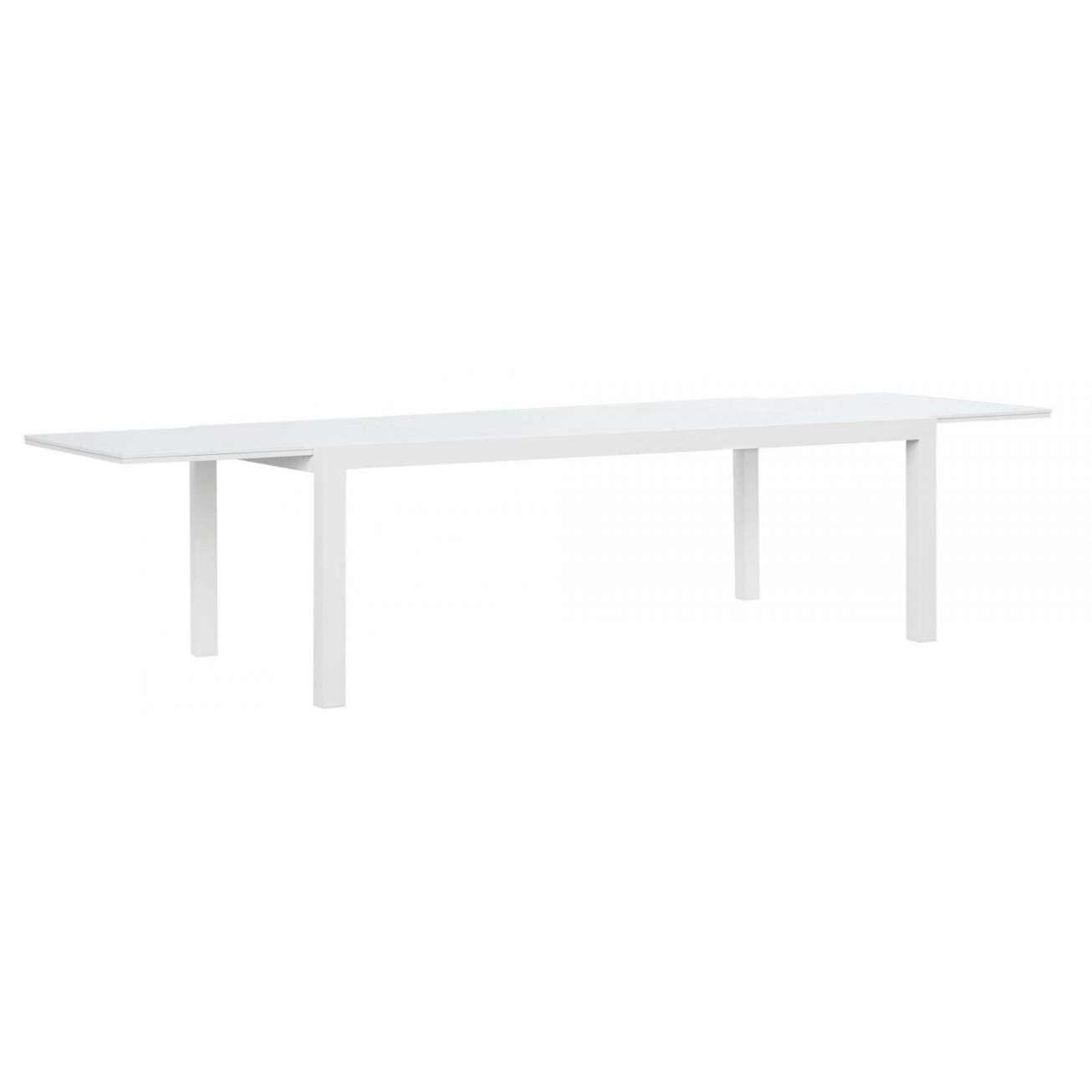 Hvit aluminiumbord med uttrekk