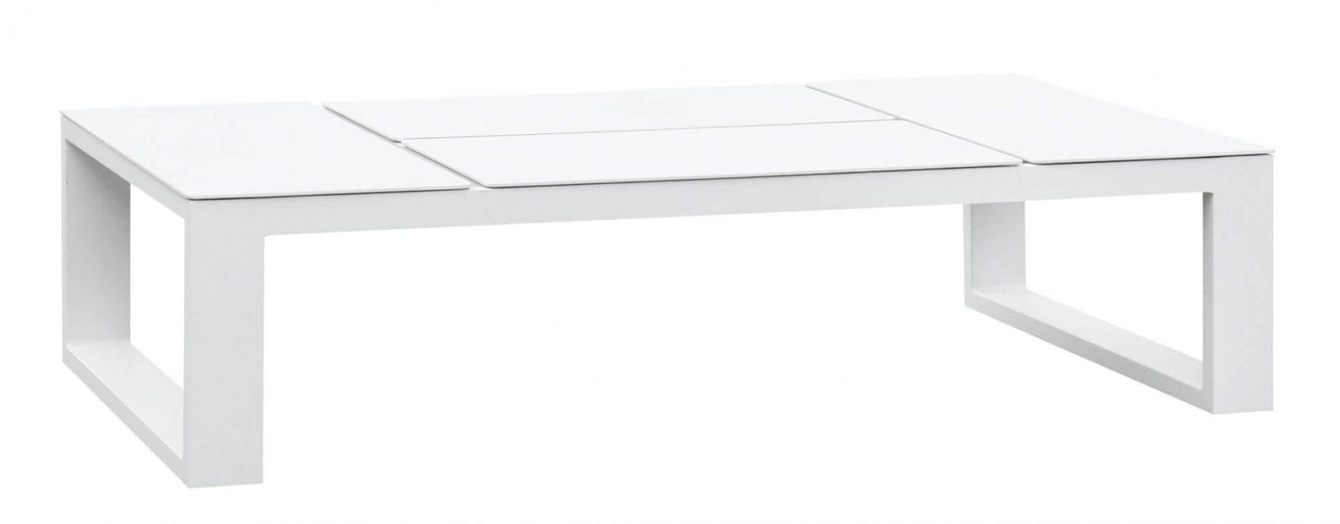Gardenart sofabord i hvit aluminium med oppløft
