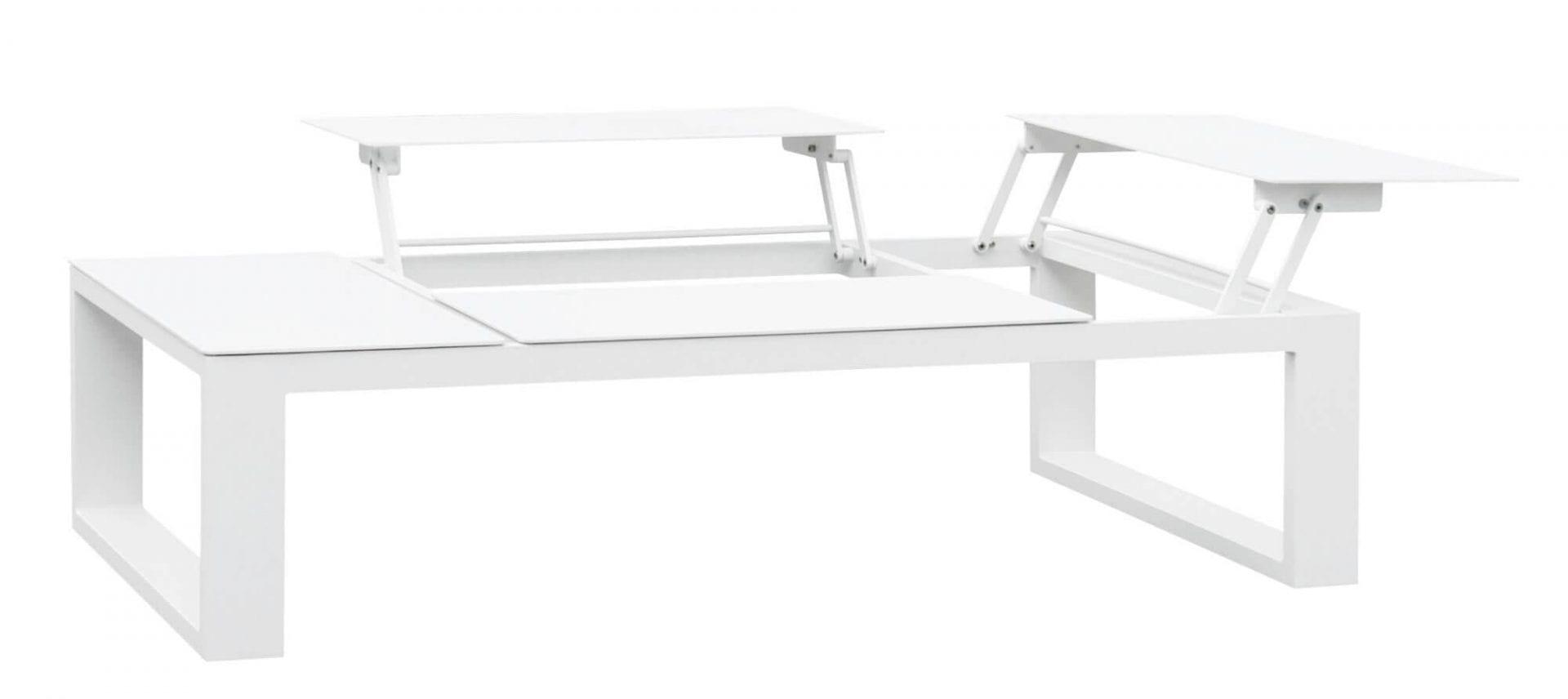 Gardenart-bord i hvit aluminium med oppløft