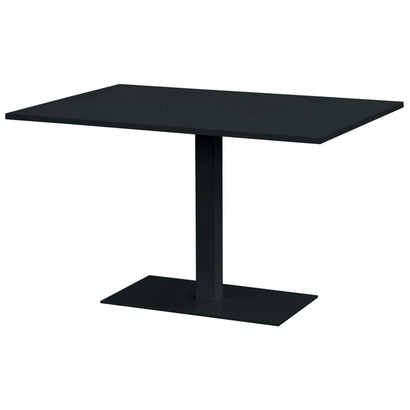 Gardenart bord i sort farge med mål 120x80x73 cm