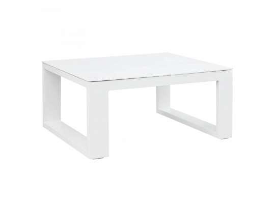 Gardenart bord av aluminium i hvit farge