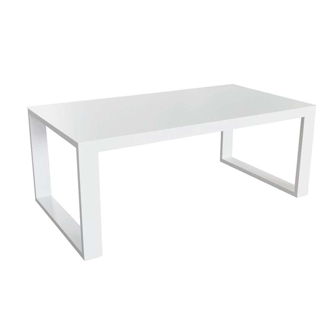 Gardenart Sofaspisebord Hvit Aluminium (100553hvit) Hagemøbler og utemøbler - Fine design