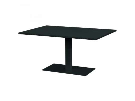 Gardenart bord i sort farge med mål 120x80x64 cm