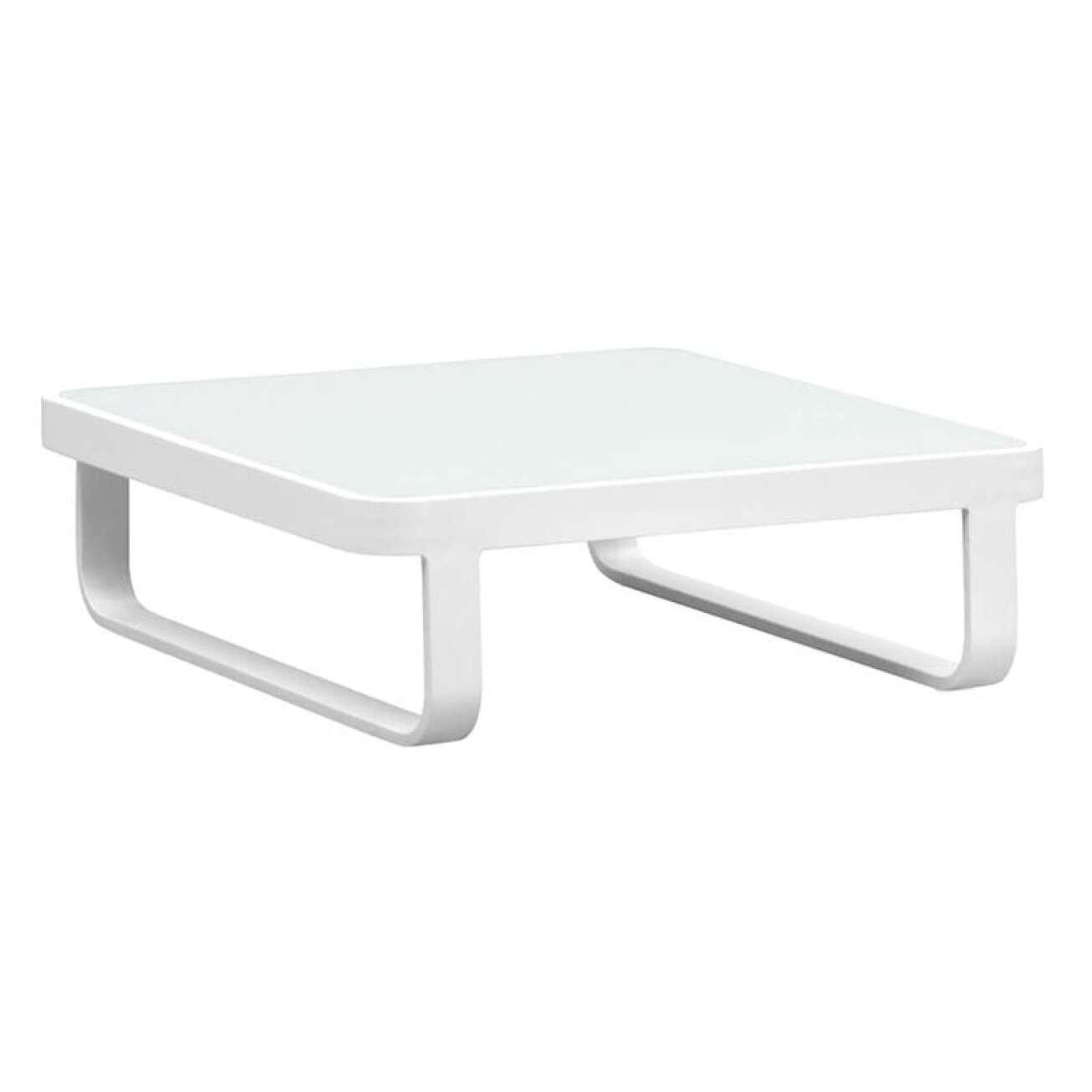 Gardenart Sofabord I Hvit Aluminium M/glassplate (100599hvitlite) Hagemøbler og utemøbler - Fine design