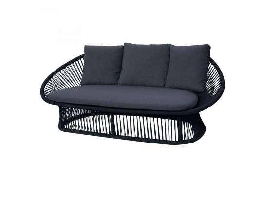 Gardenart toseter sofa i sort tau