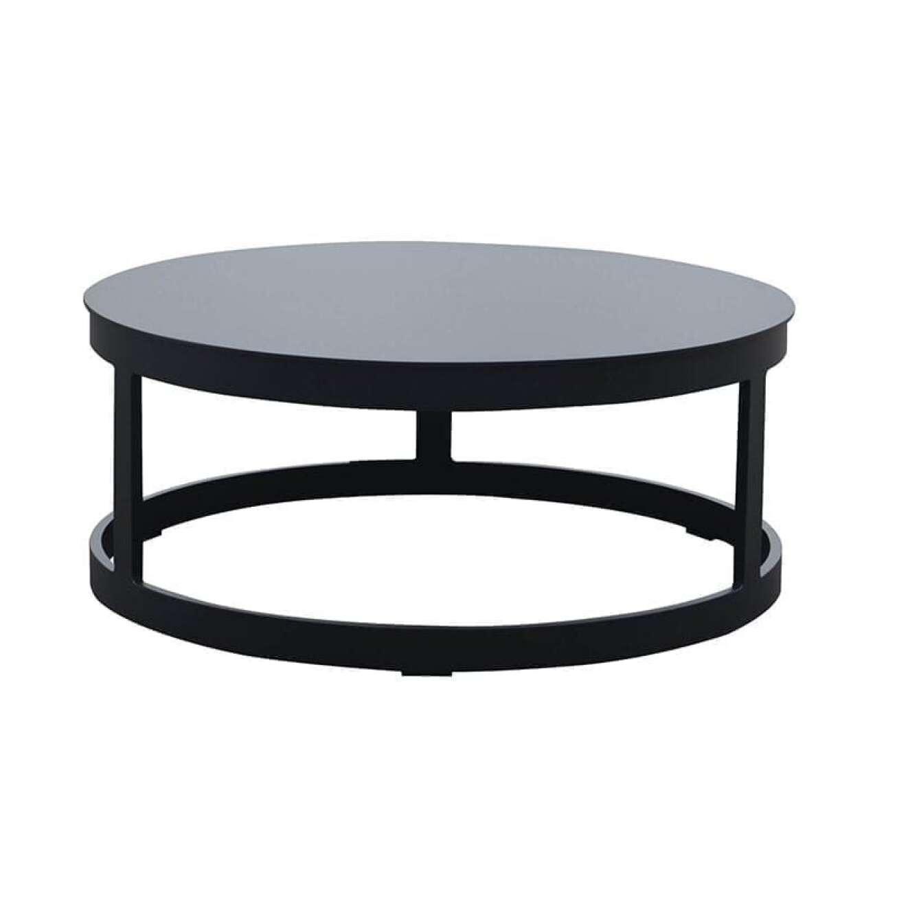 Gardenart Bord Sort Rundt Aluminium Lite (100639sort) Hagemøbler og utemøbler - Fine design