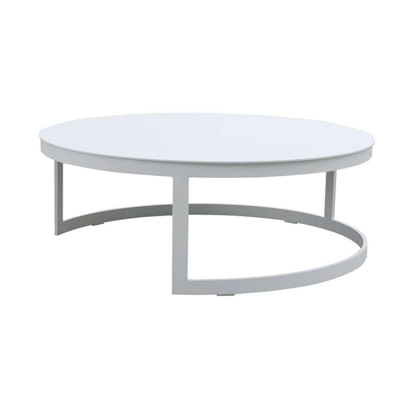 Gardenart Rundt Bord Aluminium Hvit (100640hvit) Hagemøbler og utemøbler - Fine design