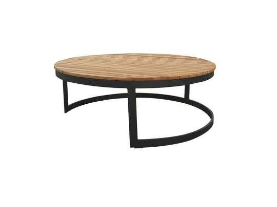 Gardenart Sofabord I Sort Aluminium Og Teak (100642sort) Hagemøbler og utemøbler - Fine design