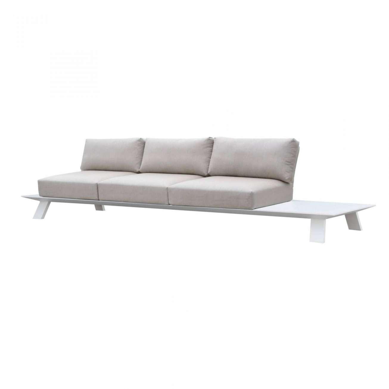 Gardenart ekslusiv treseter i hvit aluminium med sidebord