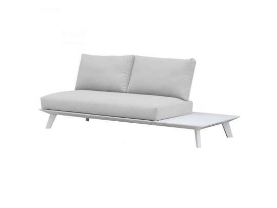Gardenarts hvite toseter sofa med sidebord i hvit