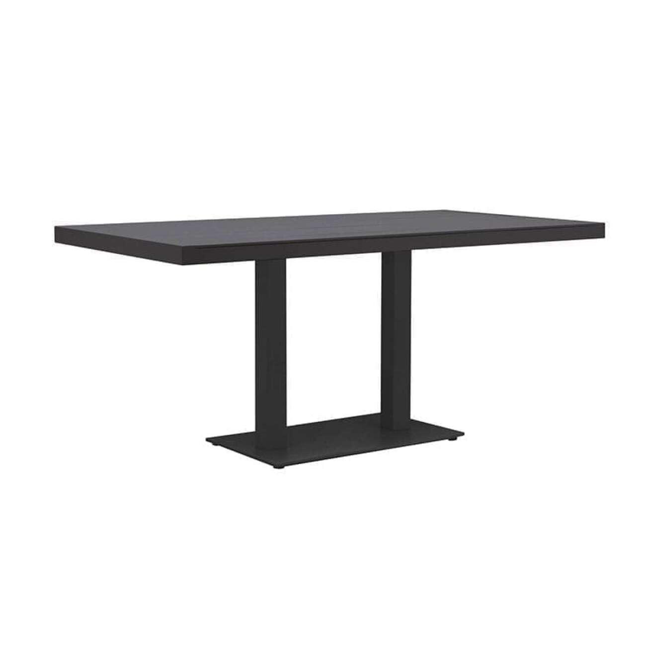 Gardenart Spisebord I Aluminium Med Kun To Plassbesparende Bein (100685sort) Hagemøbler og utemøbler - Fine design