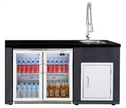 1480_artisan_utekjøkkenmodul_med_kjøleskap__vask_og_skapdør_small Hagemøbler og utemøbler - Fine design