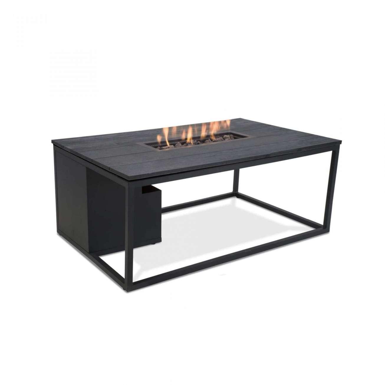 Cosi bord med gasspeis i sort aluminium