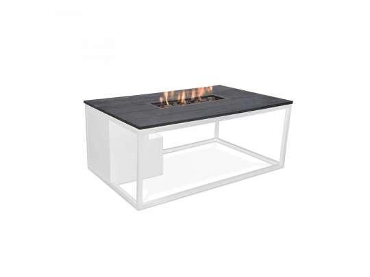 Cosi bord med gasspeis i hvit aluminium