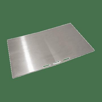 Grillplate i gjennomført rustfritt stål