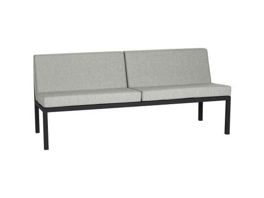 Frame multi sofa 3-seter med sort ramme og lysegrå puter
