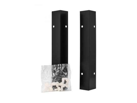 Bedd lengdeskjørt i sort farge to stykke med skruer