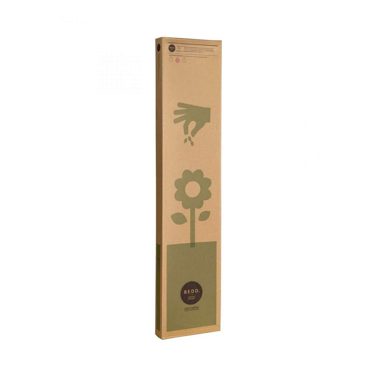 Bedd paneler i rust farge, 120 cm ganger 25cm i kartongemballasje