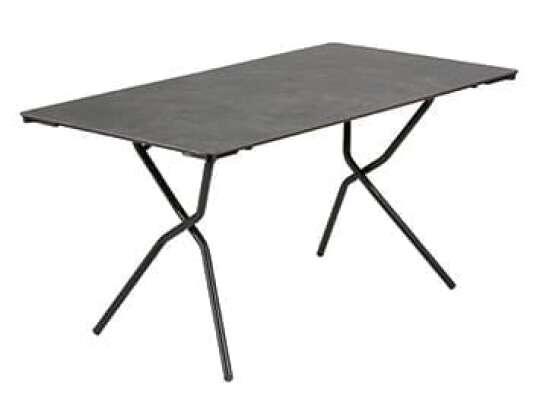 Sammenleggbart, rektangulært bord i sort fra Lafuma