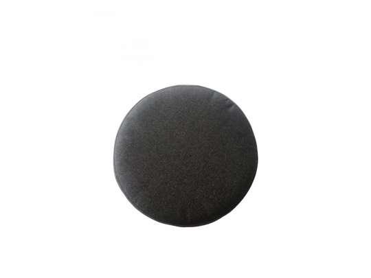 Rund sittepute i sort farge