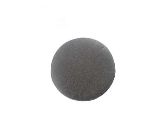 Rund sittepute i grå farge