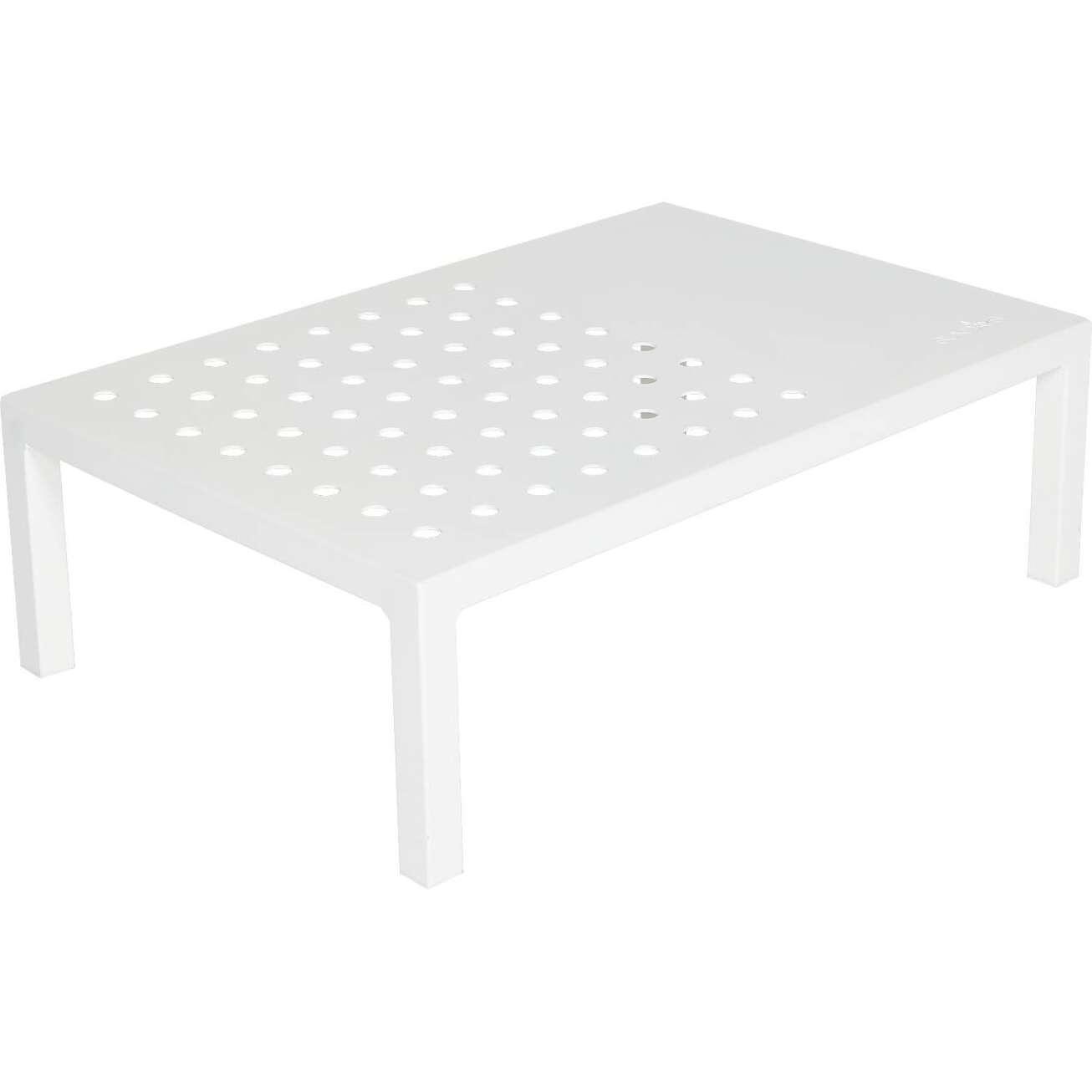 Sundays Frame firkantet sofabord i hvit aluminium lakkert med Jotun pulverlakk