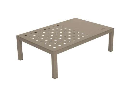 Sundays Frame firkantet sofabord i beige aluminium lakkert med Jotun pulverlakk