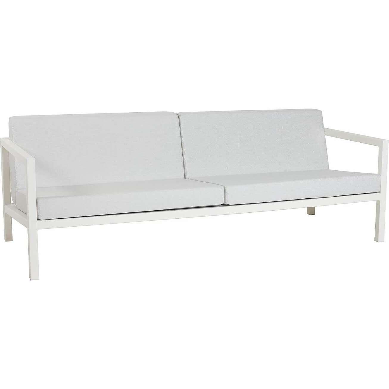 Sundays Frame 3-seter sofa i hvit aluminium med hvite puter