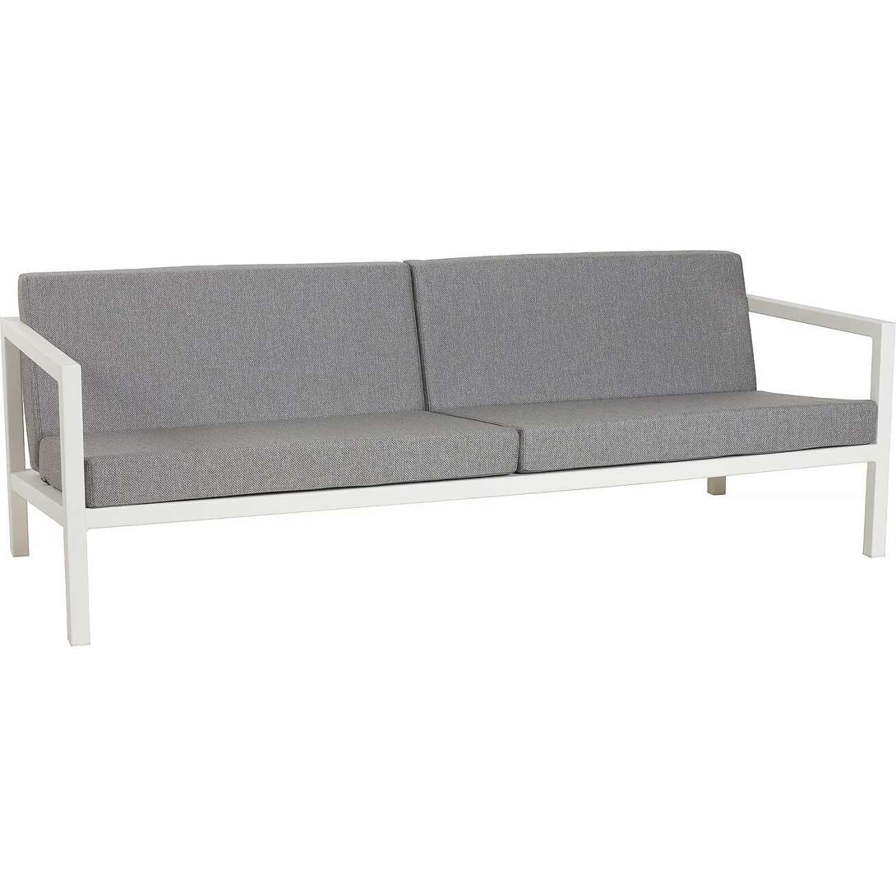 Sundays Frame 3-seter sofa i hvit aluminium med grå puter
