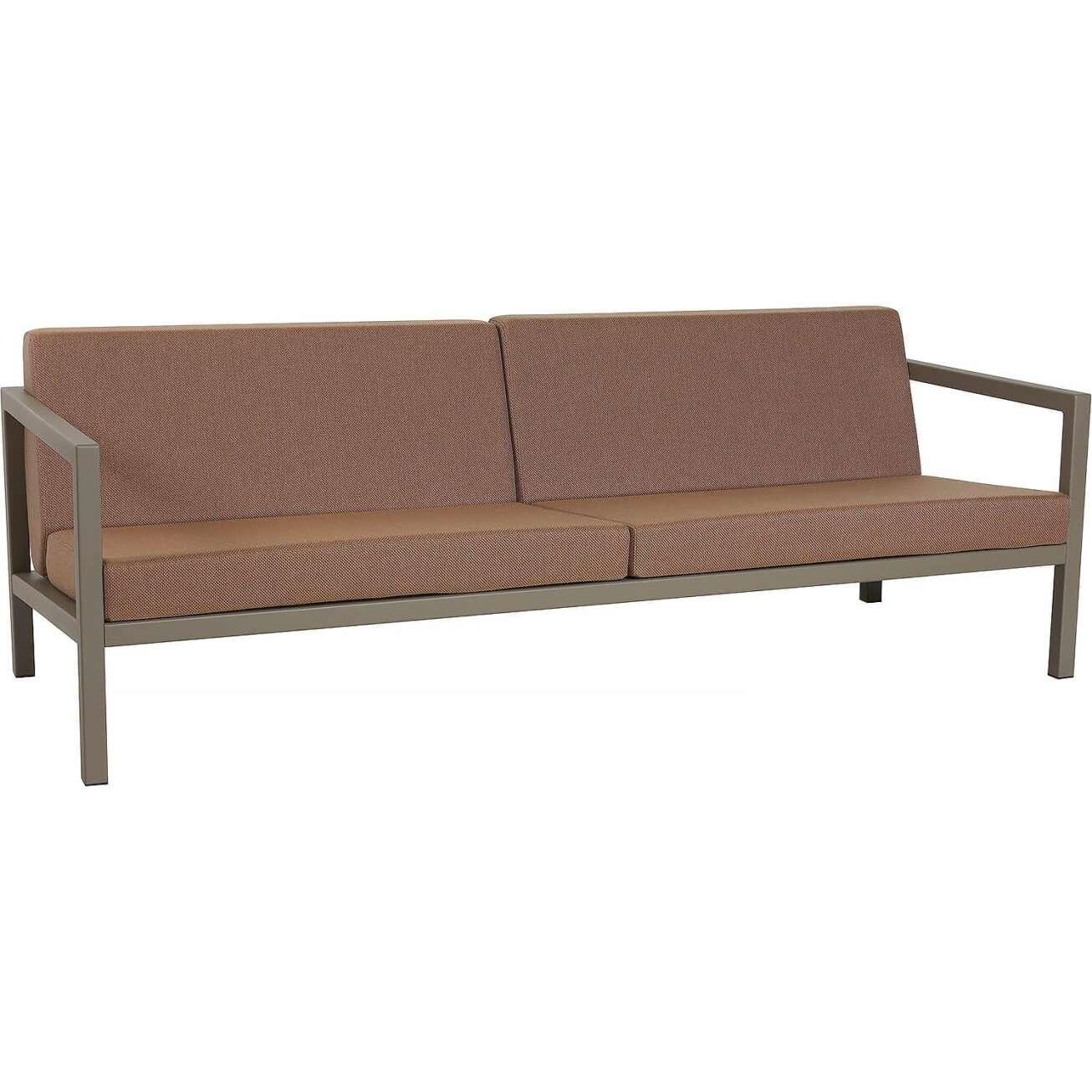 Sundays Frame 3-seter sofa i brun aluminium med brune puter