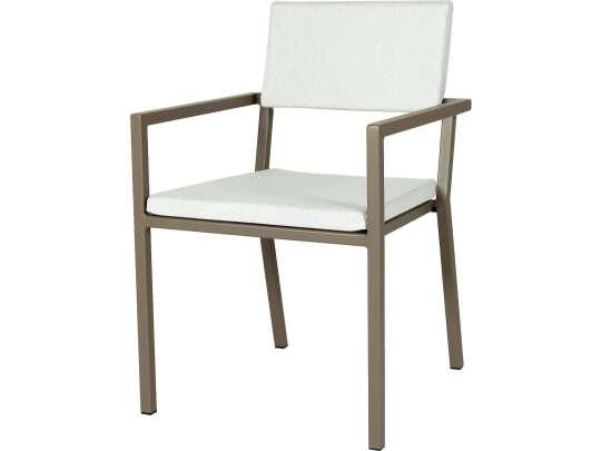 Sundays Frame spisestol i brun aluminium med hvite puter