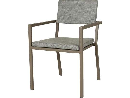 Sundays Frame spisestol i brun aluminium med grå puter