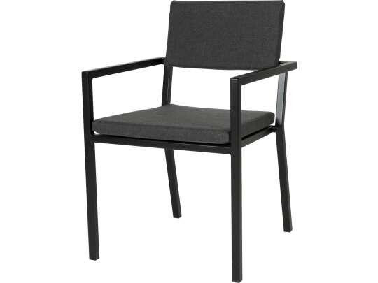 Sundays Frame spisestol i sort aluminium med svarte puter