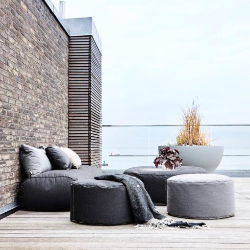 Tiny Moon Medium Puff Grå – Trimm (1020) Hagemøbler og utemøbler - Fine design