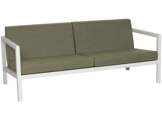 Sundays Frame 2.5-seter i hvit aluminium med grønne puter