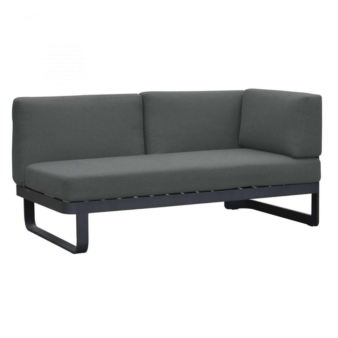 Moderne sofa toseter med høyre armlene og i sort farge