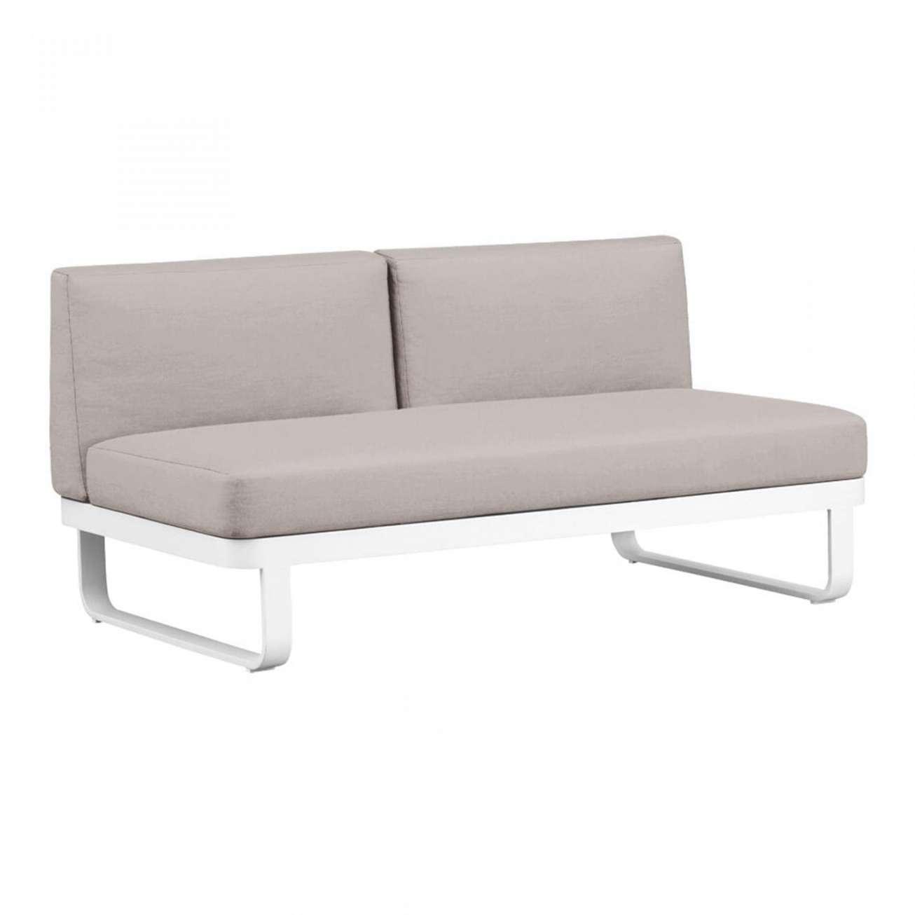 Moderne sofa toseter uten armelene i hvit og grå