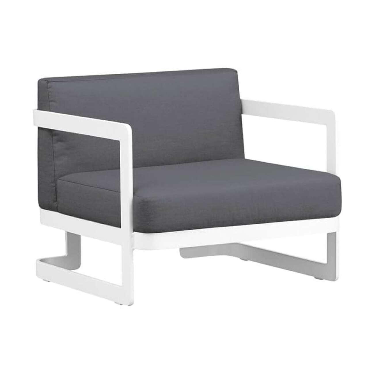 Gardenart Moderne Stol I Hvit Aluminium (100505hvit) Hagemøbler og utemøbler - Fine design