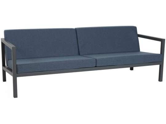 Sundays Frame 2.5-seter i mørkgrå aluminium med blå puter