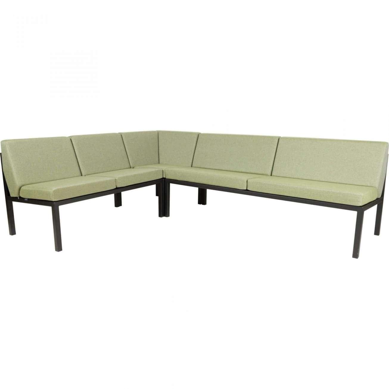 Sundays Frame Multi sofa hjørnegruppe i sort aluminium med grønne puter