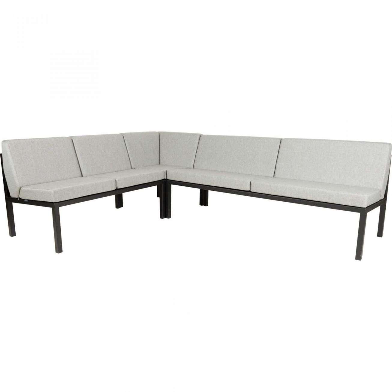 Sundays Frame Multi sofa hjørnegruppe i sort aluminium med lysgrå puter