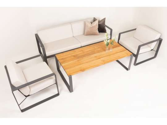 Sundays Core Gruppe Bly Inkludert Puter I Hvit Farge (sundays_blyhvit) Hagemøbler og utemøbler - Fine design