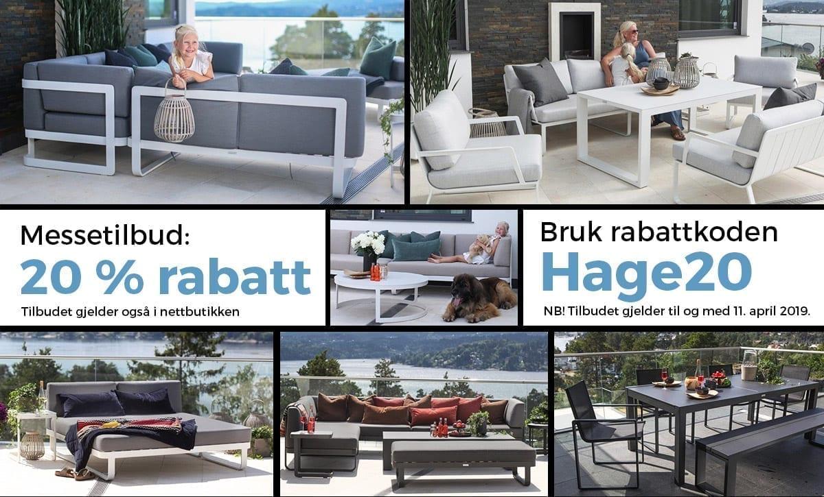 Messetilbud 20 prosent på hagemøbler - bli med Fine Design på Hagemessen 2019