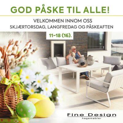 Påsken 2019 – Fine Design ønsker alle en god påske - vi har åpent skjærtorsdag, langfredag og påskeaften