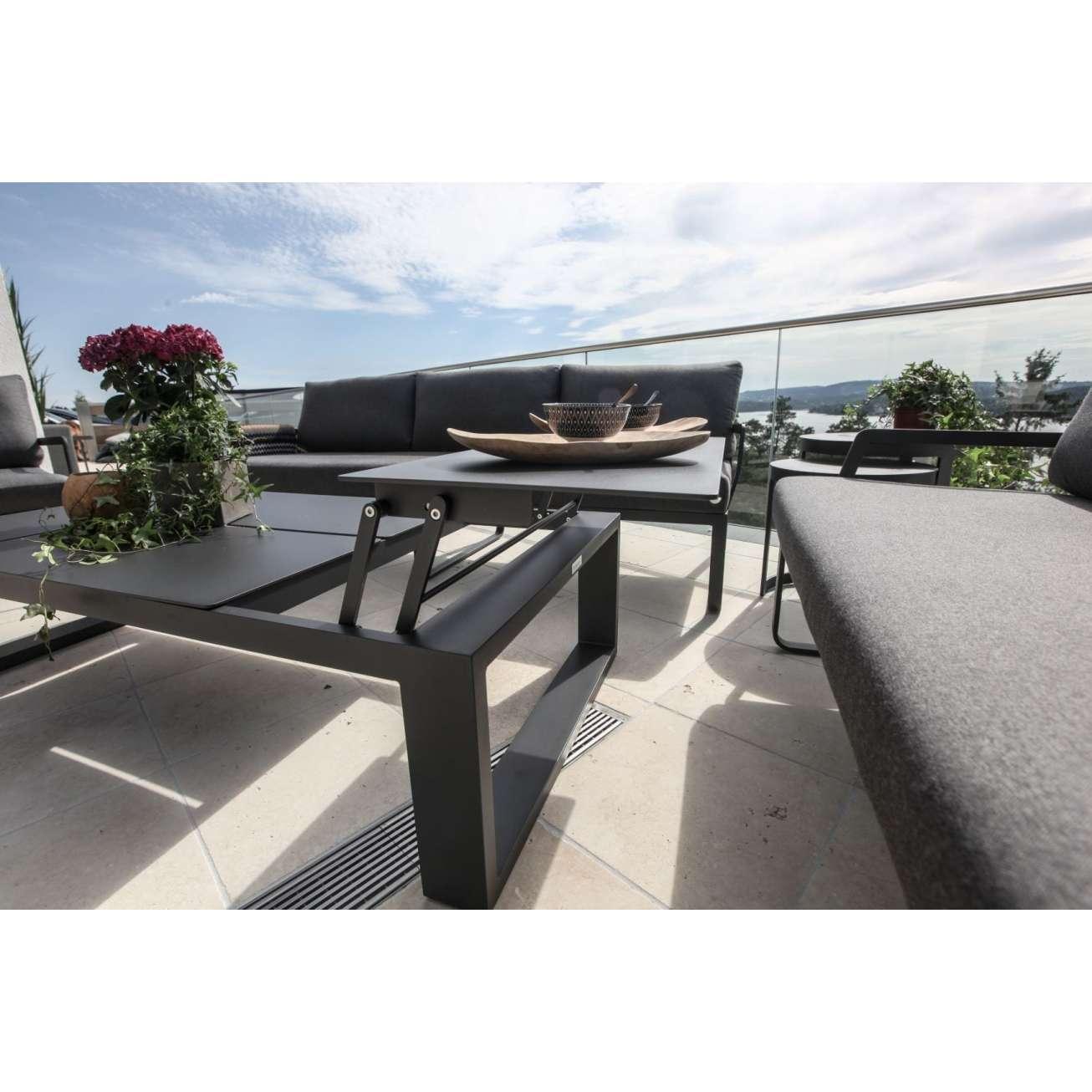 Sort, oppløftbart Gardenart sofabord